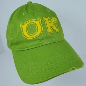 Disney Pixar Monsters Inc OOZMA KAPPA OK Hat Green